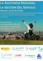 PREDIF Galicia celebra con PREDIF Estatal, a Xornada: A Asistencia Persoal:  A Xestión do Servizo